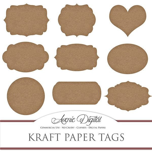 Kraft Paper Tags  Avenie Digital    Mygrafico