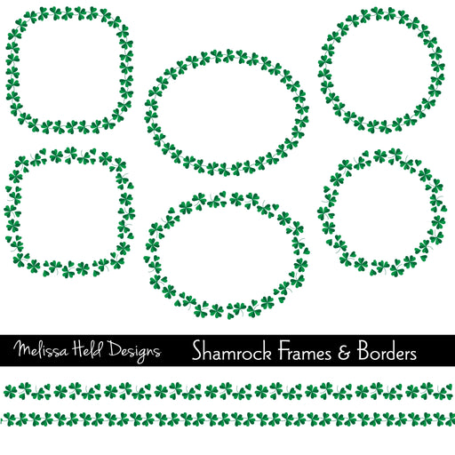 Shamrock Frames and Borders Cliparts Melissa Held Designs    Mygrafico
