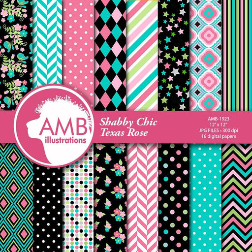 Floral papers, Geometric papers, Polkadot Digital Papers, Shabby Chic papers, ice cream colors, flora digital paper, AMB-1923 Digital Paper & Backgrounds AMBillustrations    Mygrafico