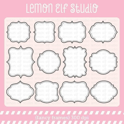 Fancy Frames Digital Clipart  Lemon Elf Studio    Mygrafico