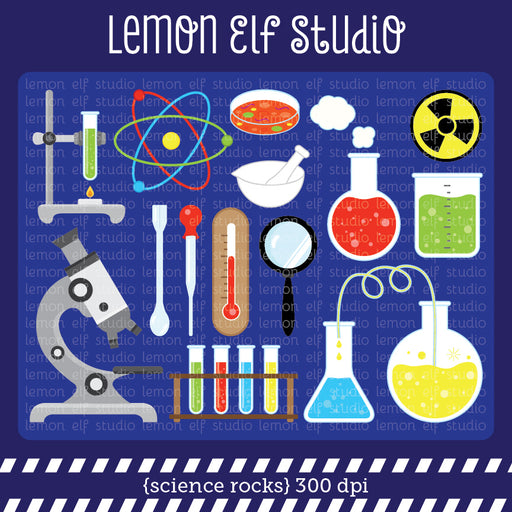 Science Rocks Digital Clipart  Lemon Elf Studio    Mygrafico