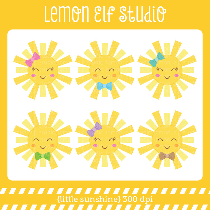 Little Sunshine Digital Clipart  Lemon Elf Studio    Mygrafico