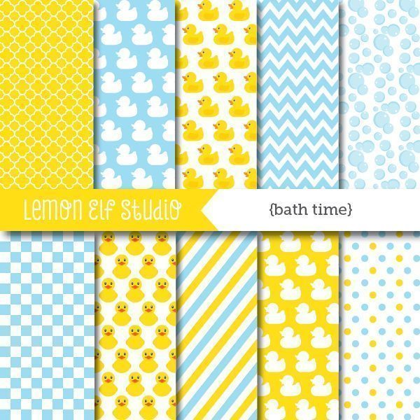 Bath Time Digital Paper  Lemon Elf Studio    Mygrafico