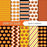 Jack O' Lantern Digital Paper  Lemon Elf Studio    Mygrafico
