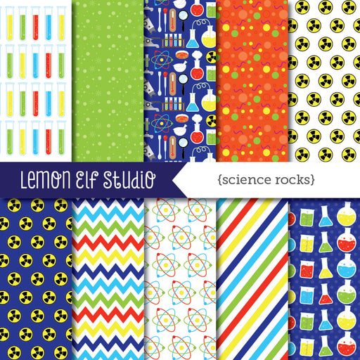 Science Rocks Digital Paper  Lemon Elf Studio    Mygrafico