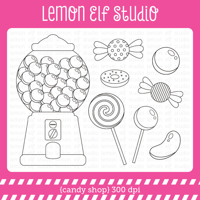 Candy Shop Digital Stamp Digital Stamps Lemon Elf Studio    Mygrafico