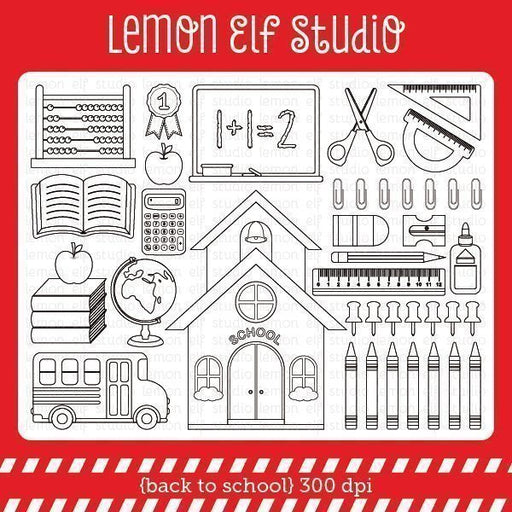 Back to School Digital Stamp  Lemon Elf Studio    Mygrafico