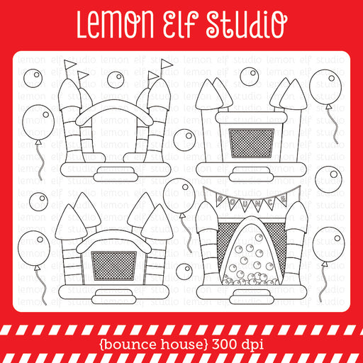 Bounce House Digital Stamp  Lemon Elf Studio    Mygrafico