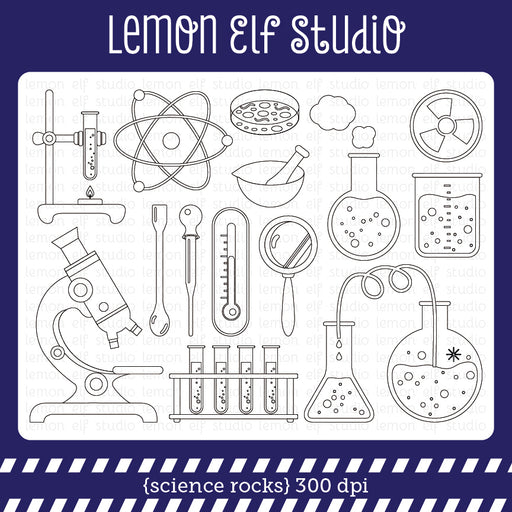 Science Rocks Digital Stamp  Lemon Elf Studio    Mygrafico