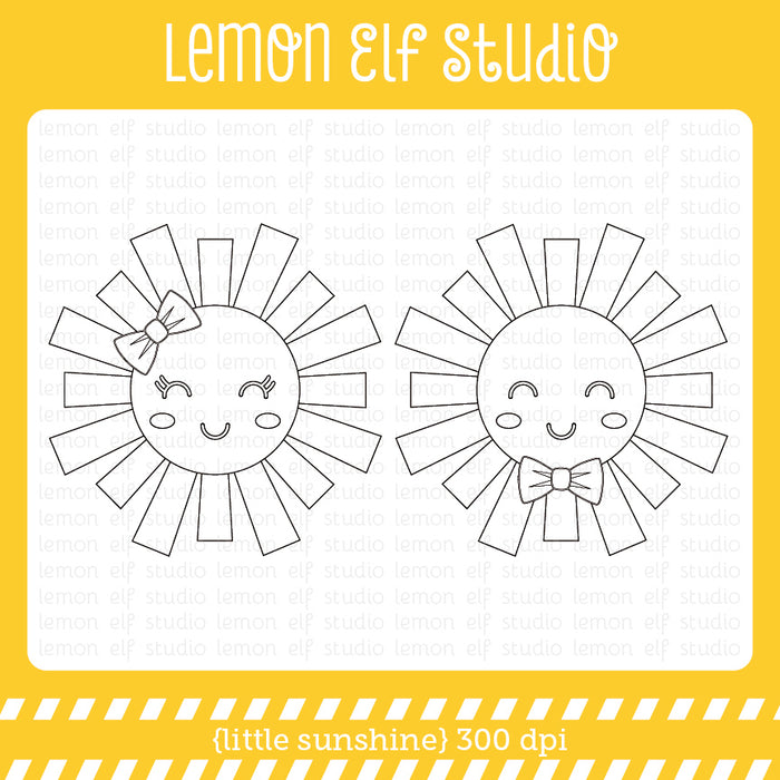 Little Sunshine Digital Stamp  Lemon Elf Studio    Mygrafico