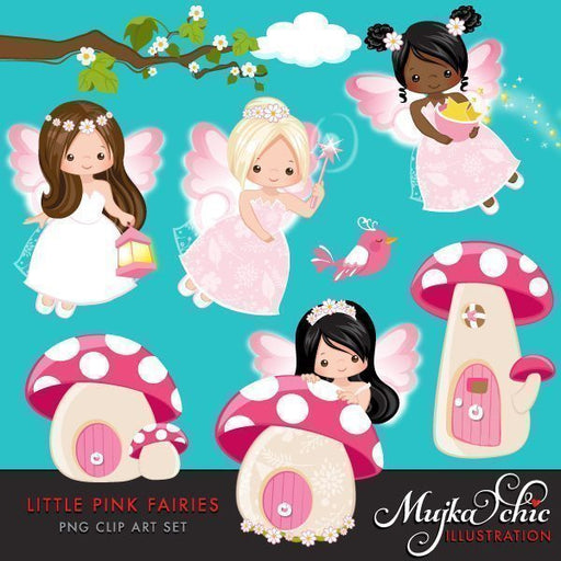Little Pink Fairy Clipart  Mujka Chic    Mygrafico