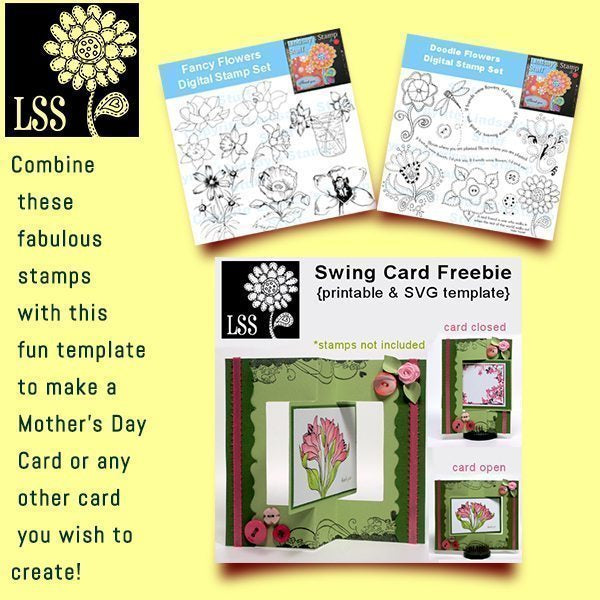 Mother's Day Card: Stamp and Template Bundle  Lindsay's Stamp Stuff    Mygrafico
