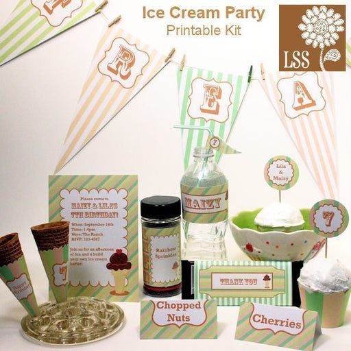 Ice Cream Party Kit! SVG Cutting Templates Lindsay's Stamp Stuff    Mygrafico