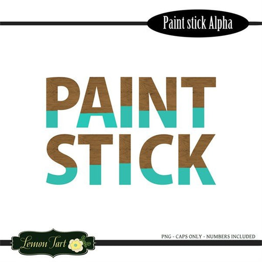 Paint Dipped Teal wood alphabet  Lemon Tart    Mygrafico