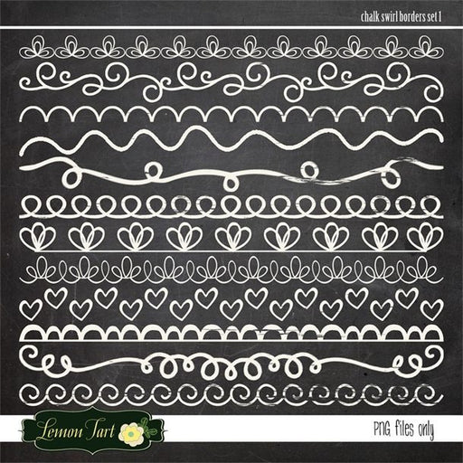 Chalkboard borders swirl decorative  Lemon Tart    Mygrafico