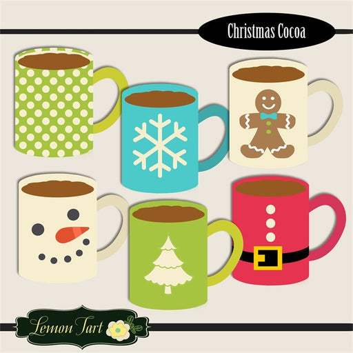 Christmas Cocoa in bright colors and sleek modern design clipart Lemon Tart    Mygrafico