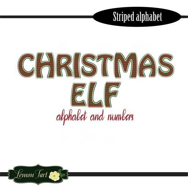 Christmas ELF alphabet and numbers  Lemon Tart    Mygrafico