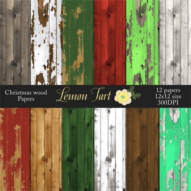 Christmas style wood paper backgrounds painted  Lemon Tart    Mygrafico