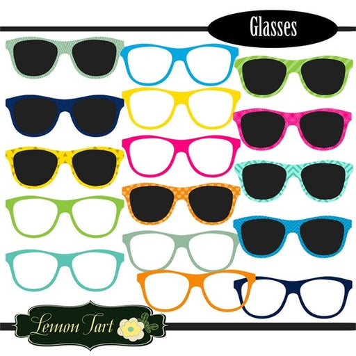 Glasses clipart sunglasses nerd glasses school  Lemon Tart    Mygrafico