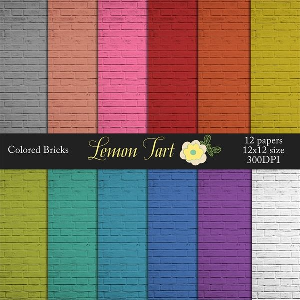 Brick colored background photography Digital Papers & Backgrounds Lemon Tart    Mygrafico