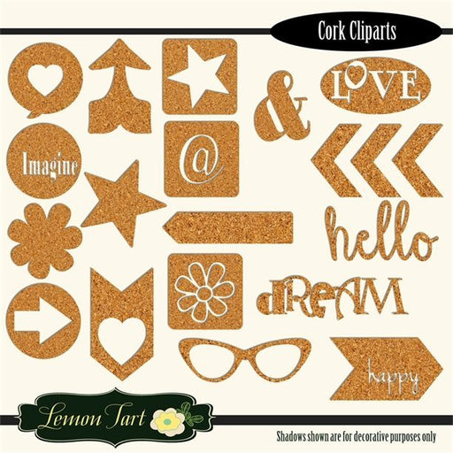 Cork board clipart elements  Lemon Tart    Mygrafico