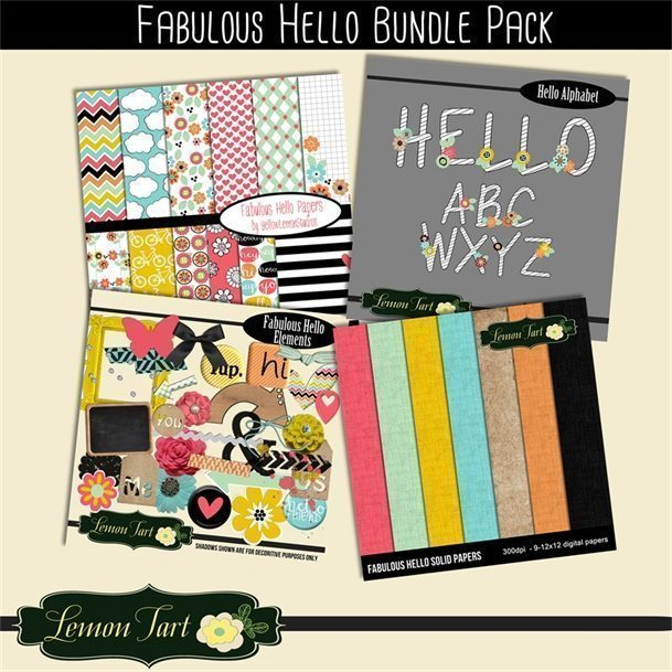 Fabulous hello Bundle pack  Lemon Tart    Mygrafico