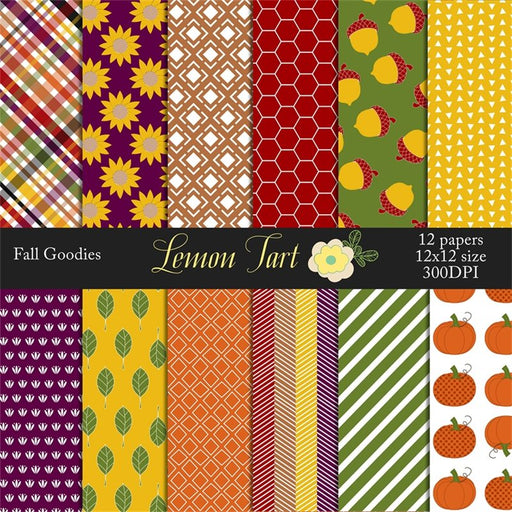 Fall Goodies Thanksgiving papers Digital Papers & Backgrounds Lemon Tart    Mygrafico