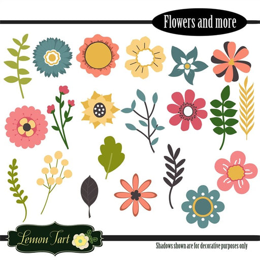 Flowers and more digital clip art
