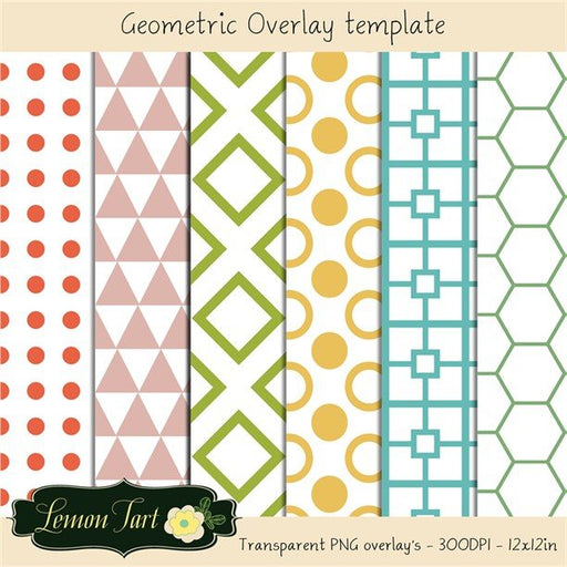 Geometric shapes overlay transparent background  Lemon Tart    Mygrafico