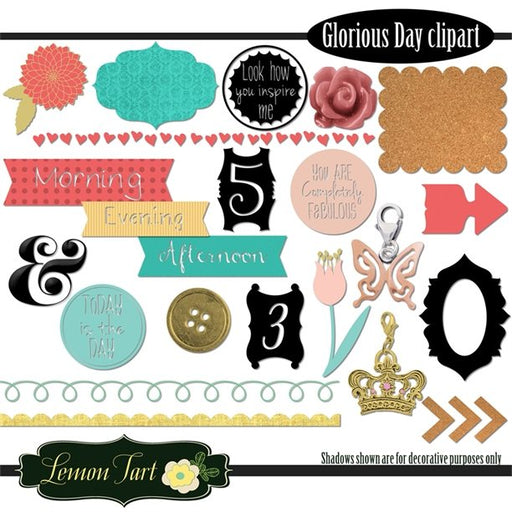 Glorious day matching clip art frames stickers flowers  Lemon Tart    Mygrafico