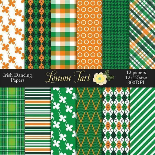 Saint Patrick's Day Irish dance Digital Papers  Lemon Tart    Mygrafico