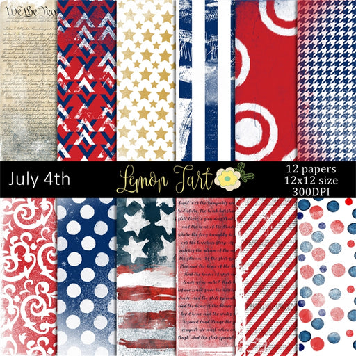 What about July 4th Digital papers Digital Papers & Backgrounds Lemon Tart    Mygrafico