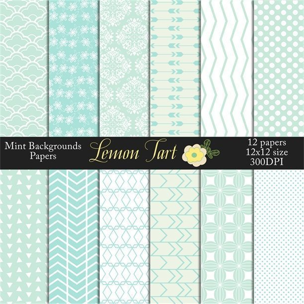 Mint Backgrounds scallops, arrows, chevrons, damask and more  Lemon Tart    Mygrafico