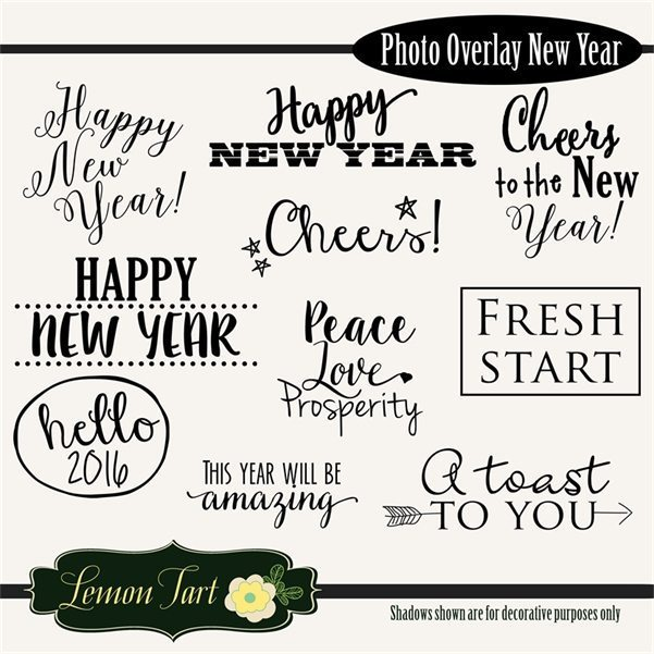 New Years Photo Overlay no background  Lemon Tart    Mygrafico