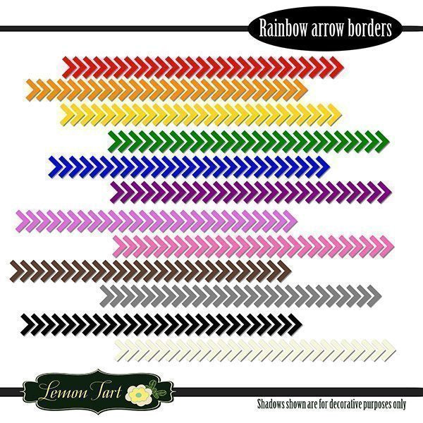 Arrow Border PNG Rainbow Colors  Lemon Tart    Mygrafico