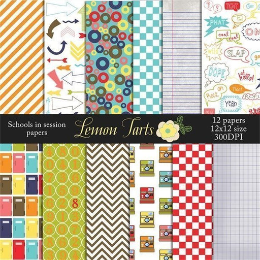 School is in session graduation scrapbook papers and backgrounds  Lemon Tart    Mygrafico