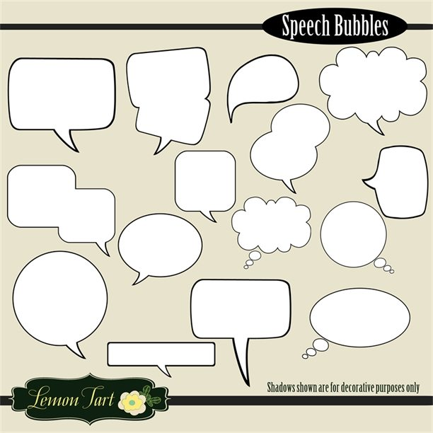 Comic book speech bubbles  Lemon Tart    Mygrafico