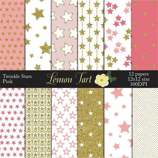Twinkle little star Pink sparkle baby night  Lemon Tart    Mygrafico
