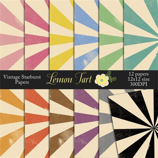Vintage Circus Starburst retro digital backgrounds Digital Papers & Backgrounds Lemon Tart    Mygrafico