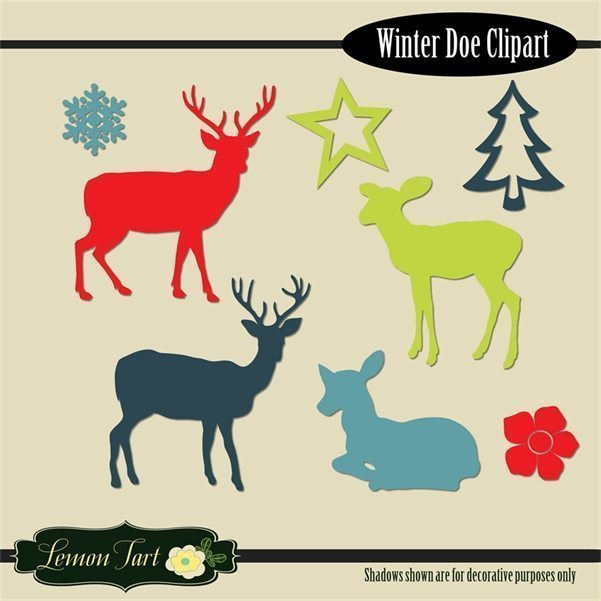 Winter Christmas Deer star tree snowflake  Lemon Tart    Mygrafico