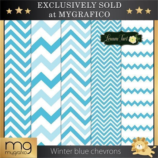 Winter blue colored chevrons  Lemon Tart    Mygrafico