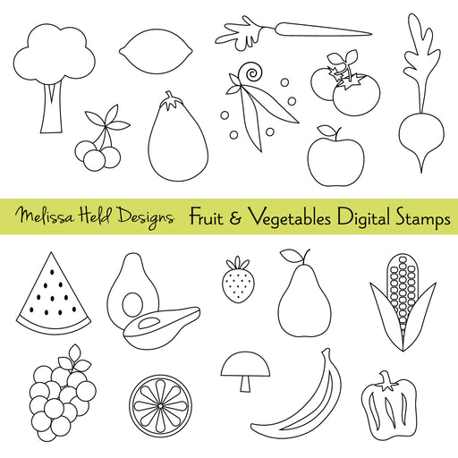 Fruit and vegetable Digital Stamps Digital Stamps Melissa Held Designs    Mygrafico