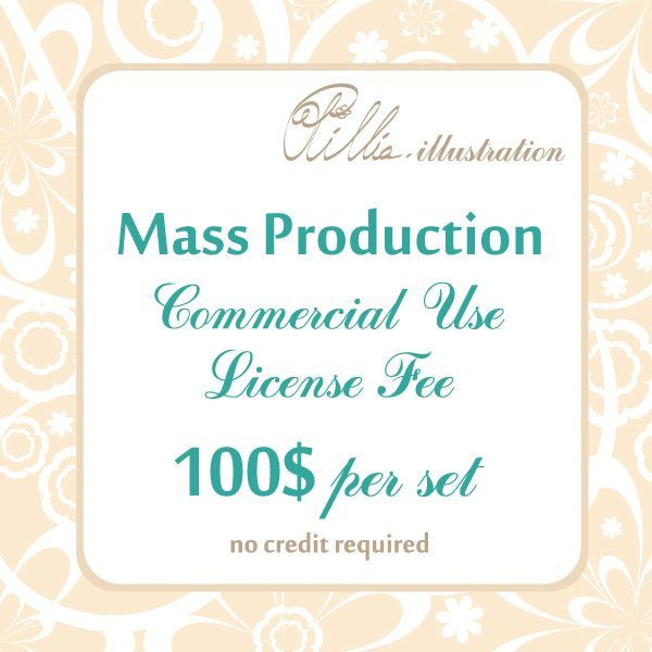 Ollilia Mass Production Commercial Use License  Olillia Illustration    Mygrafico