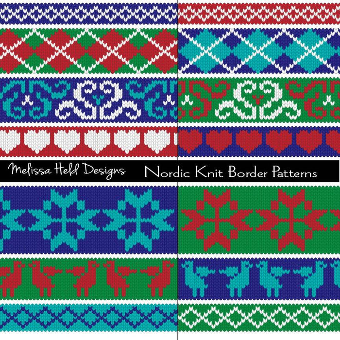 Nordic Knit Border Patterns Clipart Cliparts Melissa Held Designs    Mygrafico