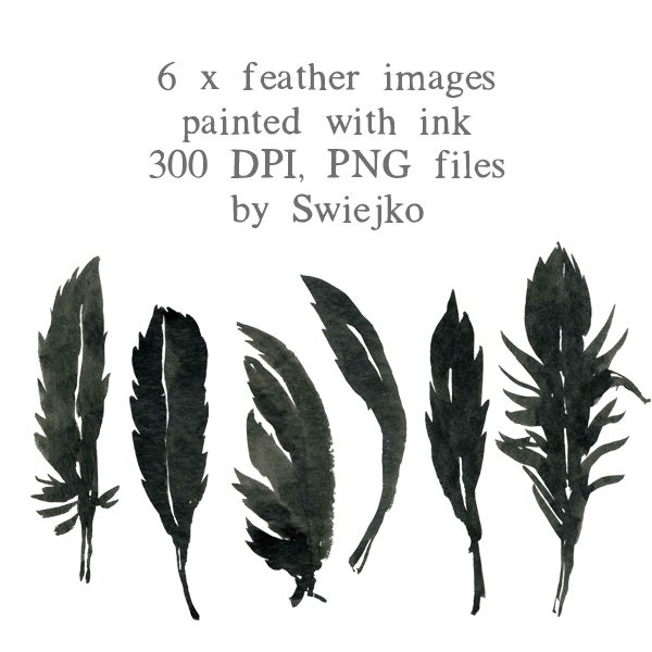 Halloween clipart set, feather illustration, watercolor images Clipart Swiejko    Mygrafico