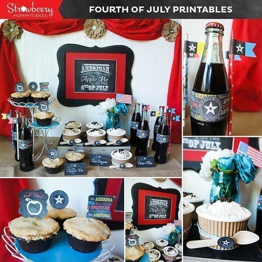 Fourth of July Party Printables Party Printable Templates Strawberry Mommycakes    Mygrafico