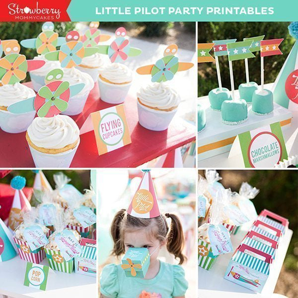 DIY Little Pilot Plane Party Printables Party Printable Templates Strawberry Mommycakes    Mygrafico