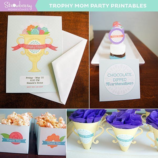 Trophy Mom Mother's Day Printables Party Printable Templates Strawberry Mommycakes    Mygrafico