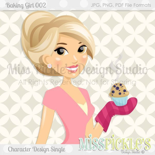 Baking Girl 002- Character Design  Miss Pickles Design Studio    Mygrafico