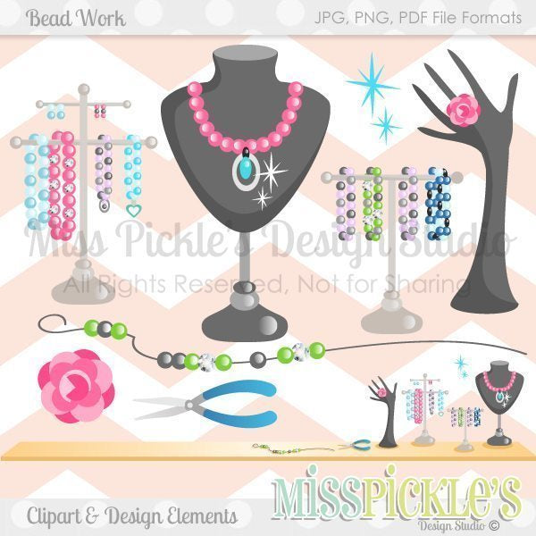 Bead Work- Clipart Set  Miss Pickles Design Studio    Mygrafico